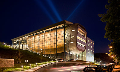 The Curtis R. Priem Experimental Media and Performing Arts Center at Rensselaer Polytechnic Institute. Credit: Copyright Peter Aaron/Esto, courtesy EMPAC